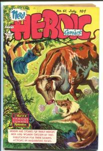 HEROIC COMICS #61 1950-BOY SCOUTS COVER VF-