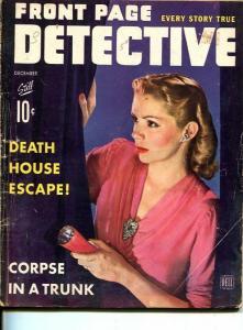 FRONT PAGE DETECTIVE-DEC 1943-SPICY-MURDER-VICE-SEX-RAPE-POISON--fair/good FR/G