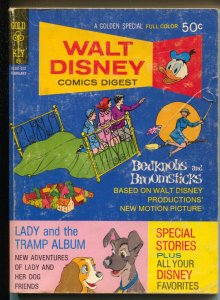 Walt Disney Comics Digest #33 1971-Lady and The Tramp-G
