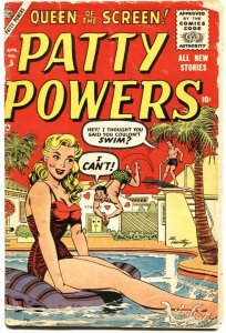 PATTY POWERS #5-1956-QUEEN OF THE SCREEN-SWIMSUIT COVER-STAN LEE-VERY RARE-GI...