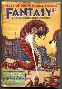 Fantasy #2 1939 RARE British Pulp-Insect attack cover