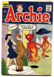 Archie Comics #124 1961- Ufo & Alien Cover- Veronica