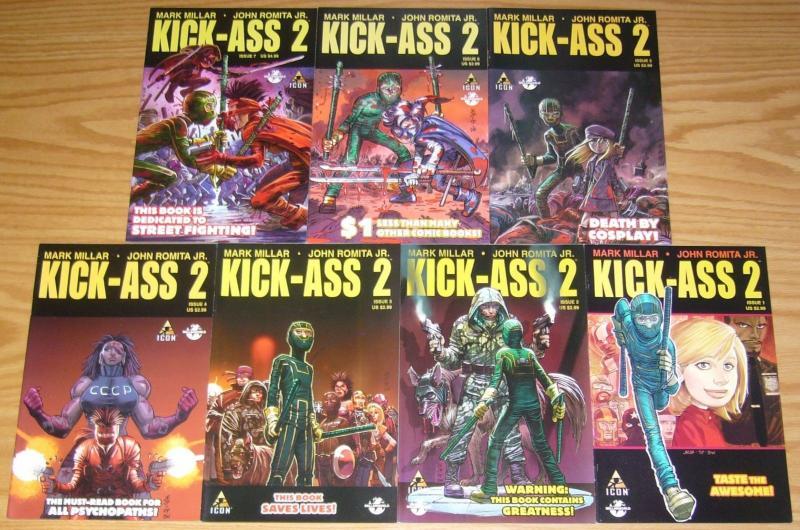 Kick-Ass 2 #1-7 VF/NM complete series - mark millar - john romita jr - icon set