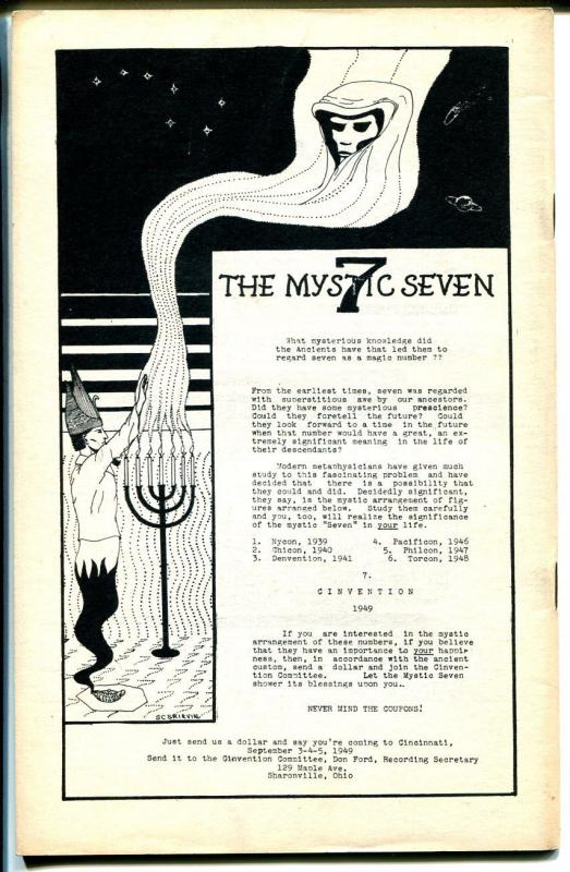 Fantasy Advertiser 12/1950-Edgar Rice Burroughs-Tarzan-pulps-fanzine-FN