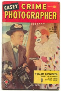 Casey Crime Photographer #2 1949- CLOWN COVER- Marvel Golden Age VG+