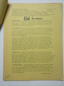 Pittsburgh Fan Forum Zine May-June 1976 Benjamin Pondexter to E Nelson Bridwell