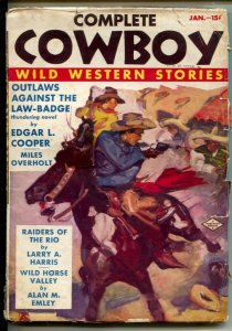 Complete Cowboy #1 1/1939-1st issue-Raiders of The Rio-Pancho Villa's Durad...