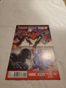 Spider-Verse Team Up 1 Near Mint Cover by David Williams