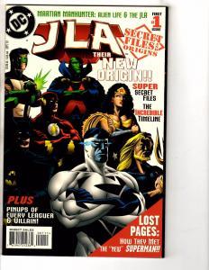 4 Secret Files & Origins DC Comic Books JLA # 1 2 3 JLA In Crisis # 1 J257