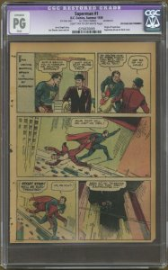Superman #1 Page 9 ONLY CGC PG Reprints Last 2pgs 1st Story from Action Comics 1