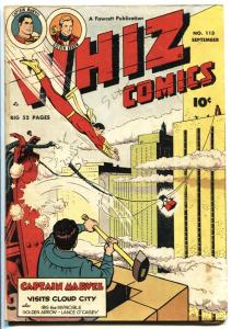 WHIZ #113 1949 FAWCETT-CAPT MARVEL-GOLDEN ARROW-WOLVERTON-IBIS vg