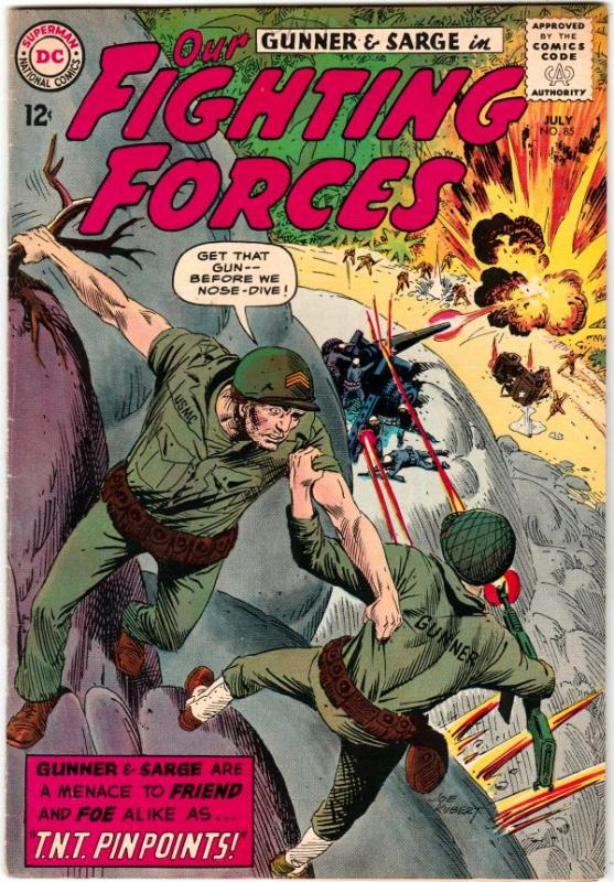 Our Fighting Forces #85 (Jul-64) VF/NM High-Grade Gunner and Sarge, Pooch