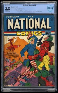 National Comics #8 CBCS GD/VG 3.0 Off White (Restored)