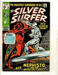 Silver Surfer # 16 FN/VF Marvel Comic Book Avengers Fantastic Four Galactus GK1