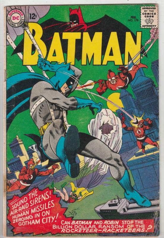 Batman #178 (Feb-66) VG/FN Mid-Grade Batman