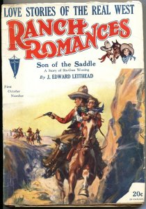 RANCH ROMANCES 1st  OCT 1930-CLAYTON PUBS-WESTERN PULP FICTION-RARE