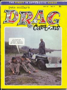 Drag Cartoons #23 1966-Millar-hot rod cartoons-Wonder Warthog-drag race pix-VG