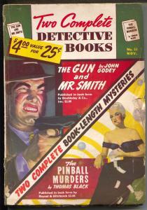 Two Complete Detective Novels #53 11/1948-hard boiled crime pulp-George Gross-VG