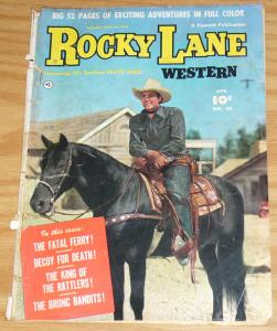 Rocky Lane Western #24 april 1951 - golden age fawcett western comic - 52 pages