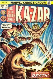 Ka-Zar (1974 series) #4, VF- (Stock photo)