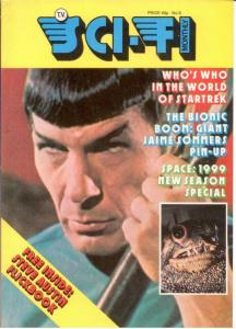 TV SCI FI MONTHLY 8 VF SPECTACULAR SPOCK P/C; DR WHO (T