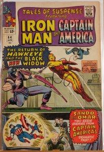 Tales of Suspense #64 (1965) - Very Good 4.0 - Hawkeye - Black Widow