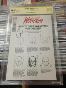 All New Wolverine 25 How to Draw Variant  CBCS 9.4 signed Chip Zdarsky