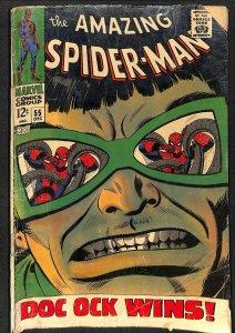 Amazing Spider-Man #55 FA/GD 1.5 Doc Ock! Marvel Comics Spiderman