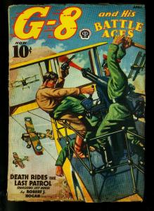 G-8 and His Battle Aces Pulp April 1939- Death Rides the Last Patrol- VG+