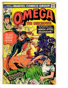 Lot Of 6 Marvel Comic Books Omega Unknown # 1 2 + Human Fly # 1 4 5 19 RJ6
