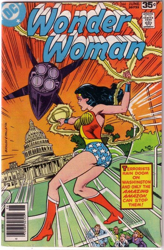 Wonder Woman   vol. 1   #244 VG Harris/Delbo, Capitol terrorism story
