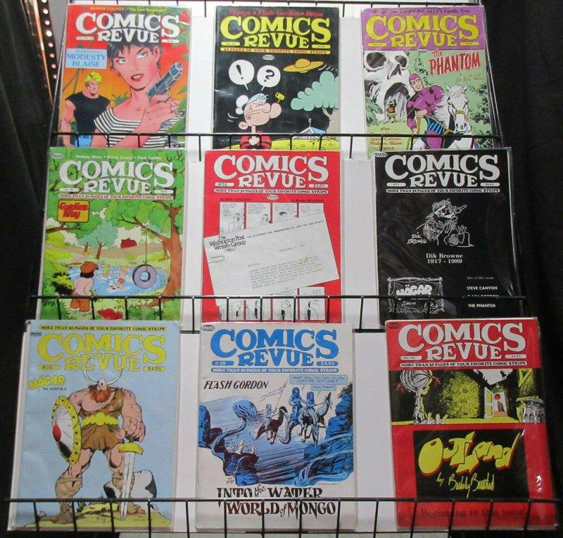 Comics Revue #26-40 Lot of 9Diff Modesty Blaise Popeye Phantom Hagar
