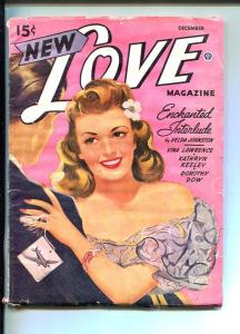 NEW LOVE-DEC 1944-ROMANTIC PULP FICTION-PIN-UP GIRL  COVER-g/vg
