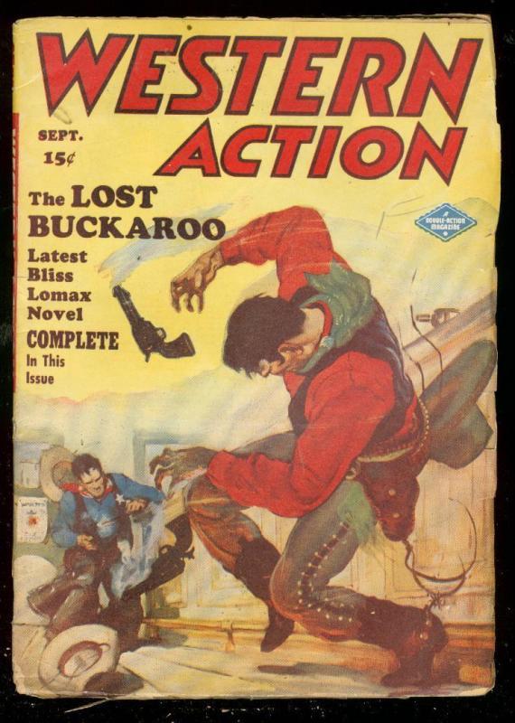 WESTERN ACTION SEPT 1948-PULP-BLISS LOMAX-BAR GUNFIGHT VG