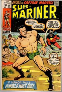 SUBMARINER 30 VG Oct. 1970  CAPTAIN MARVEL