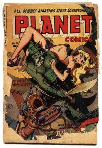 Planet #72 Classic GGA cover-Horror/Sci-Fi Fiction House Late issue