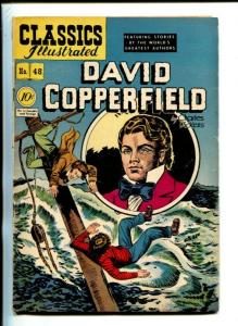 CLASSICS ILLUSTRATED #48-1948-HRN 47-DAVID COPPERFIELD-CHARLES DICKENS-vg minus