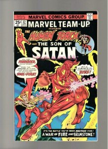 MARVEL TEAM-UP #32, VF/NM, Son of Satan, Human Torch, 1972 1975, more in store