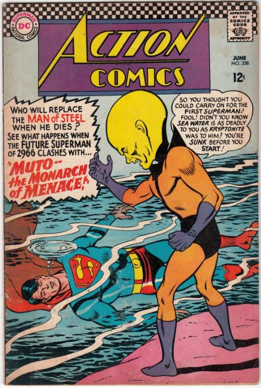 Action Comics #338 (Jun-66) FN Mid-Grade Superman, Supergirl