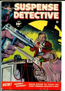 Suspense Detective #1 1952-Atlas-horror-1st issue-prison escape-crime-VG