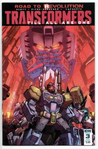 Transformers Till All Are One #3 Sub Cvr (IDW, 2016) VF/NM