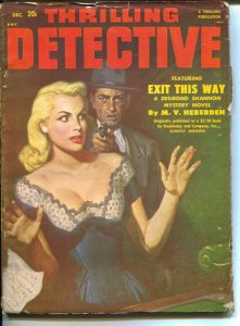 Thrilling Detective 12/1951-Good Girl Art cover-Robert Turner-hardboiled pulp...