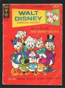 Walt Disney Comics Digest #34 1972-Carl Barks art-Donald Duck-Uncle Scrooge-M...