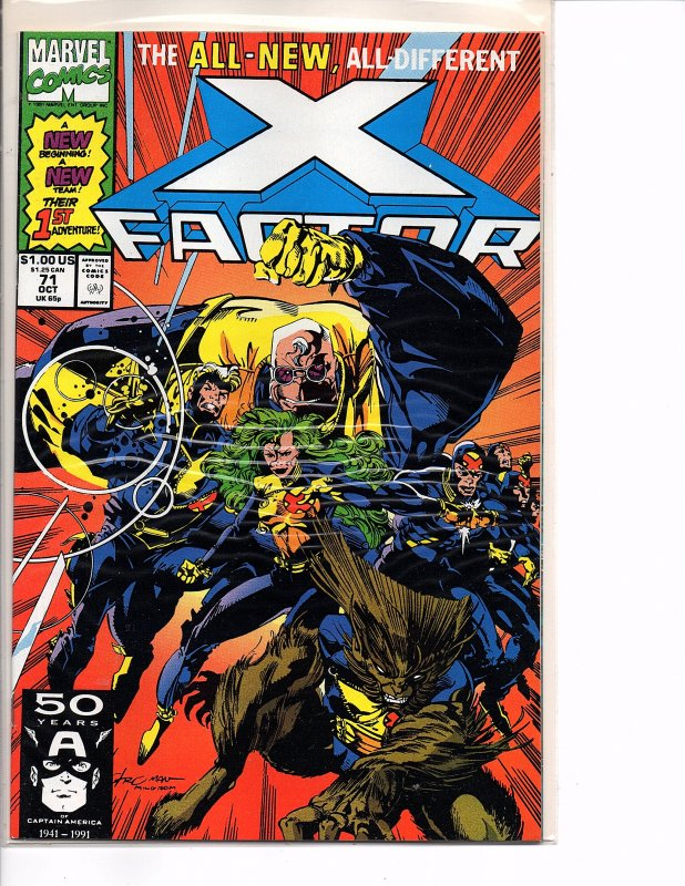Marvel Comics X-Factor Vol. 1 #71 NM New Team Larry Stroman Cover & Art