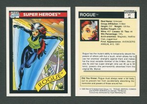 1990 Marvel Comics Card  #41 (Rogue)  NM