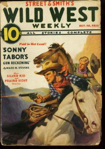 WILD WEST WEEKLY OCT 10 1936   SONNY TABOR   SILVER KID VG