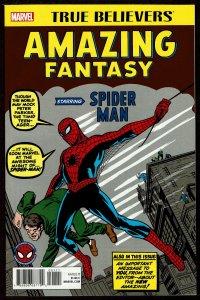 True Believers Amazing Fantasy #15 (Sep 2017, Marvel) 9.4 NM