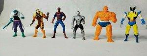"Spider-Man  Die-Cast 3"" Figures Marvel Web Of Steel Metal Lot Of 6, 1994 ToyBiz"
