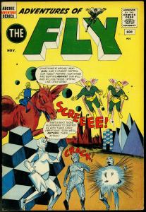 ADVENTURES OF THE FLY #16 MONSTERS 1961 JAGUAR CAT GIRL VG