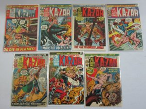 Astonishing Tales lot 7 different Ka-Zar issues from #10-20 4.0 VG (1972)
